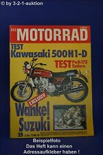 Das Motorrad 25/73 Kawasaki 500 Wankel Suzuki Puch 175