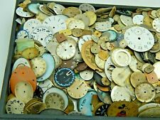 Lot of 40 pocket and wrist watch dials for use or Upcycled steampunk art parts