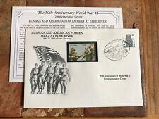DANBURY MINT WORLD WAR 2 WW2 GERMANY BRD 1995 FDC GUYANA US RUSSIA RIVER ELBE