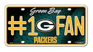 Green Bay Packers #1 Fan Metal Sign License Plate Tag Man Cave NFL