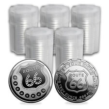 1 oz Silver Round Get Your Kicks on Route 66 (Lot of 100) - eBay - SKU #114929