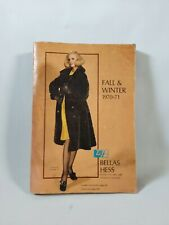 Vtg BELLAS HESS 1970-71 Fall Winter CATALOG GIRLS COATS DRESSES SHOES SUITS