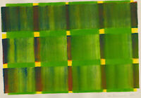 John Butterworth - 1999 Aquatint, Abstract Composition, Green Squares