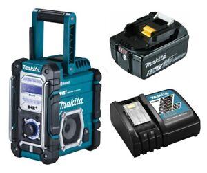 Makita Baustellenradio DMR112 mit DAB+ Bluetooth + 18V Akku 5,0 Ah & Ladegerät