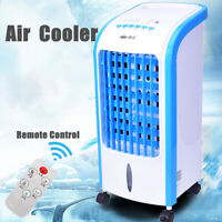 Portable Evaporative Air Cooler Fan Indoor Cooling Humidifier w/ Remote Control^