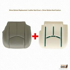 2003 2004 GMC Sierra 2500 2500HD Driver Bottom Leather Cover & Foam Cushion GRAY