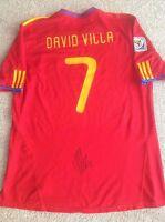 DAVID VILLA SIGNED SPAIN WORLD CUP 2010 ADIDAS JERSEY SHIRT AUTO BARCELONA NYCFC