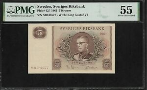 Sweden 5 Kronor 1961  PMG 55  Pick # 42f