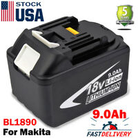 NEW 9.0Ah 18V Battery For Makita BL1890 LXT Lithium-ion BL1830 BL1860 BL1845 US