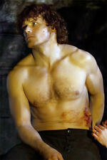 "SAM HEUGHAN  OUTLANDER SEXY HOT shirtless photo 8""x11"" BUY 2, GET 1 FREE"