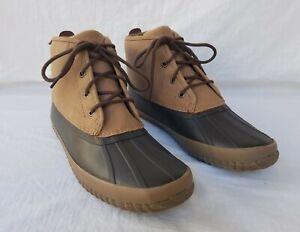 New Men's Sperry Breakwater Duck Boots STS22776 Tan/Brown