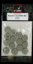 Armory Models 1/72 TUPOLEV Tu-22 M2/M3 BACKFIRE WHEELS Resin Set