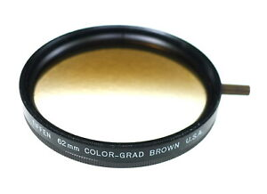 62mm Tiffen BROWN Color Graduated Filter - NEW