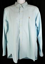 Ralph Lauren Oxford Shirt Men's Size L Baby Blue Button Down Long Sleeve