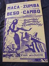 Partition Maca zumba de Y. Allouche Beso Cambo  de Luis Valmontès Samba 1951