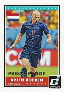 2015 Donruss Soccer Base Parallel Arjen Robben Gold Press Proof 57/99 Holland