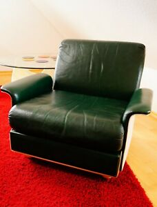Sessel Space Age Vintage 60 70 er Mid Century Chair Leder Design Lounge Sofa