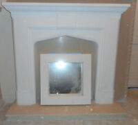 F12 Pugin Fire Surround in Plaster - BIRMINGHAM COLLECTION ONLY