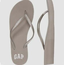 BNEW GAP Logo Womens Wedge  Sandals / Slippers / Flip flop - Size 7 Gray