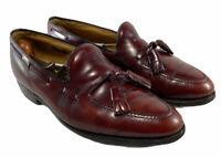 Allen Edmonds Grayson Burgundy Leather Tassel Loafer Shoe Men's Size Us 9.5 D