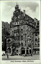 Nürnberg Bayern um 1940 Strassen Partie am Hotel Deutscher Kaiser Andro-Verlag