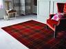 Moderne Tartan Carreaux Design Tapis Souple Noir Bleu Rouge Beige Salon Maison