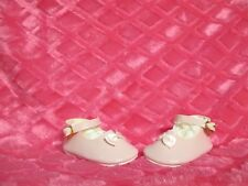 """3-3/4"""" PINK MARY JANE SHOES FOR NEWBORN REBORN TODDLER LARGER SIZED BABY DOLLS"""