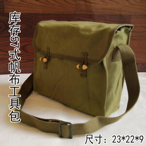 Surplus Chinese 57 style signal tool bag thick canvas shoulder bag