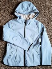 Beautiful Women's Size Large  L Baby Blue Embroidered Zero Xposur Jacket Coat