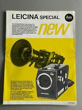 Leitz,  Leicina Special, A4 Paper Brochure, 3 Page Fold Out, 1972
