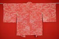 Vintage Japanese Kimono Silk Antique BORO HAORI Kusakizome Dyed/AD78/600