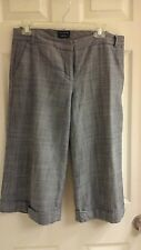 The limited, gaucho pants, lined, cuff wide legs, women's size 6
