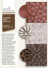 Modern Free Motion Anita Goodesign Embroidery Machine Design CD NEW