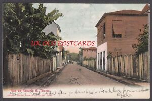 S THOME et PRINCIPE ( St Thomas ) , Rua do Rosario, Postcard, used 1903 to UK