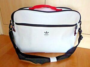 neue Tasche Adidas Originals Airliner - weiß - unbenutzte Umhängetasche - unisex