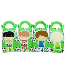 4x Soccer Football Lolly Loot Bag Box Party Supplies Bunting Favour Cake Banner