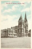 Marion Indiana~First United Methodist Episcopal Church~2 Towers~1920s Postcard