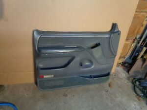 92-96 FORD F 150 f150 F-250 BRONCO DRIVER DOOR PANEL dark grey i6