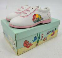 Vtg Deadstock Disneys The Little Mermaid Shoes Infant Size 5 Pink White Oxford