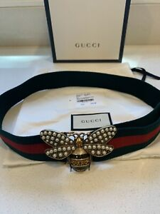 Authentic Gucci Bee Belt