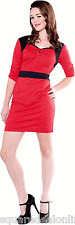 77334 Black and Red Polka Dot Vixen Dress Sourpuss Pinup 50s Retro Punk SMALL