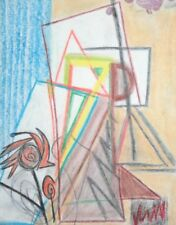 Abstract cubist Pencil drawing