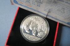 2014  CHINESE  SILVER  PANDA, 1 Oz .999  BULLION  COIN, w/ Certificate & Box.