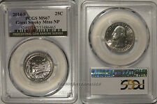 2014 S Great Smoky Mountians NP Quarter 25c PCGS MS67 Business Strike USA Flag