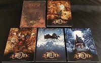 AGONE RPG Lot of 5 Twilight Realms Books Screen Map Multisim Publishing HC NEW!!