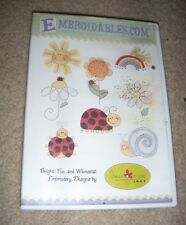Ladybugs Embroidery Designs by Kangaroo and Joey on CD-ROM
