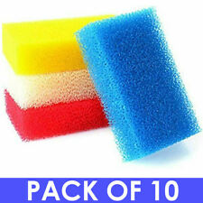 More details for 10 nylon cleaning scourers - heavy duty plastic washing up pots mixed colours