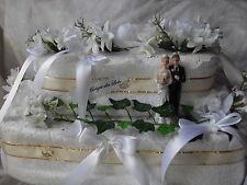 Hochzeit Torte Geldgeschenk Handtuchtorte weiß 45 cm