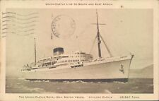 Postcard Shipping Royal Mail Vessel Union Castle posted 1950
