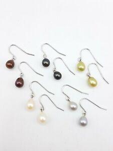925 Silver TIL Hallmark 5 Pair Pearl Earring Lot FC472
